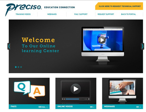 Preciso Education Connection Homepage. (PRNewsFoto/Jensen Dental)