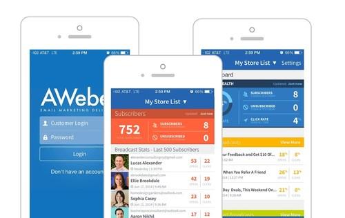 AWeber Mobile App (PRNewsFoto/AWeber)