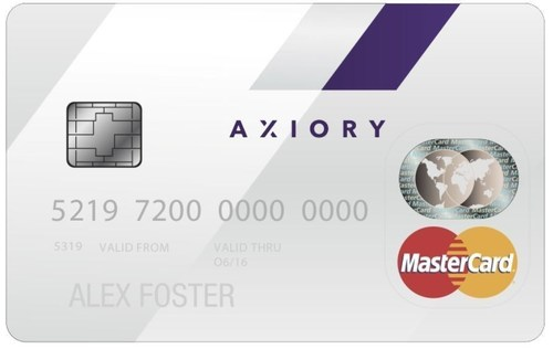 Introducing the AXIORY Prepaid MasterCard®