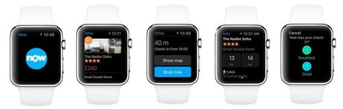 Booking.com Launches the First Instant Booking Travel App for Apple Watch (PRNewsFoto/Booking.com)