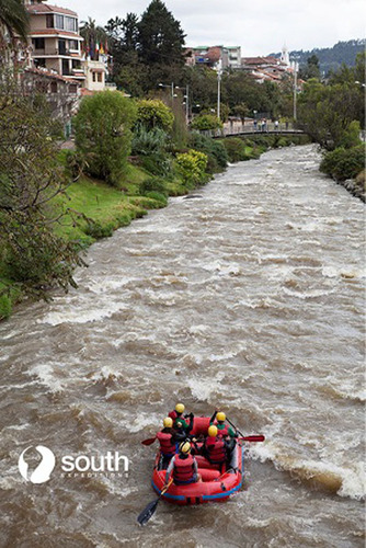 Rafting in the Tomebamba River.  (PRNewsFoto/South Expeditions)