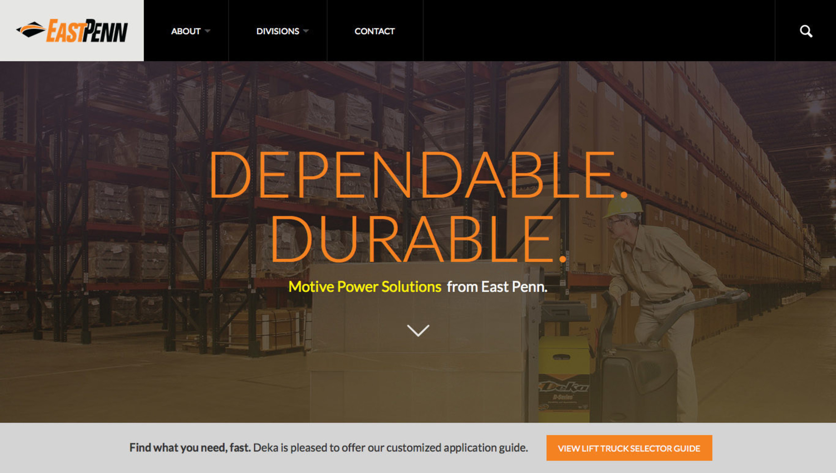 New Online Deka Batteries Lift Truck 'Selector Guide for Motive Power Products