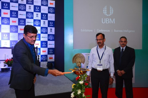 Key dignitaries inaugurating WasTe and SaniTech India 2016 (PRNewsFoto/UBM India Pvt. Ltd.)