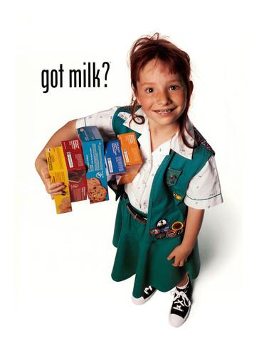 GOT MILK? & Girl Scouts in Calif. to Recapture an Iconic Ad.  (PRNewsFoto/California Milk Processor Board, ...