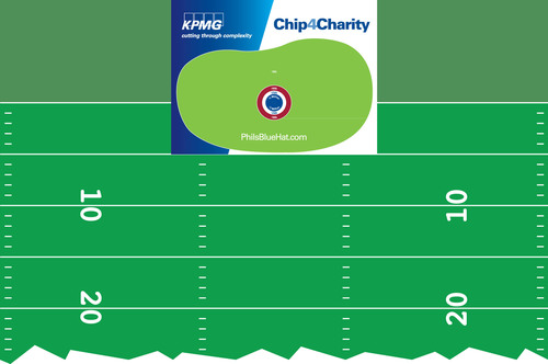 Phil Mickelson Participating In 'KPMG Chip4Charity'at Halftime Of Broncos Vs. Chargers Game Oct. 15