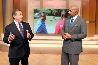 Choice Hotels President and CEO Steve Joyce with Steve Harvey