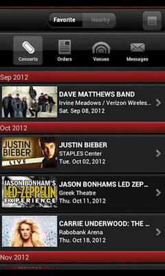 Live Nation Launches Live Nation App For Android Mobile Devices.  (PRNewsFoto/Live Nation)