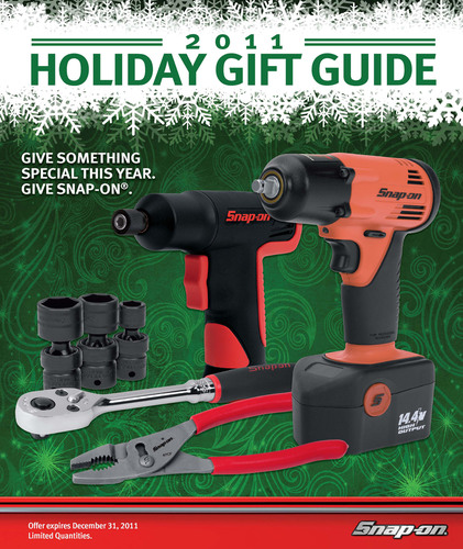 Give something special this holiday season, give the gift of Snap-on. 2011 holiday guide offers great selection of gift ideas.  (PRNewsFoto/Snap-on Tools)