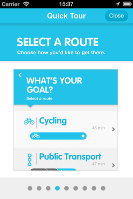 re:route, Recyclebank's new mobile app supported by Transport for London (TfL), encourages Londoners to walk and cycle more with exclusive reward offers while helping members to reduce pollution, ease transit congestion and boost their fitness in the process.  (PRNewsFoto/Recyclebank)