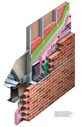 Five of the most recognized and trusted companies in the construction industry have aligned to create the industry's best complete masonry cavity wall system. Owens Corning worked closely with industry leaders and their products to create a completely compatible, code compliant and warrantied system. The CavityComplete(TM) Wall System for Steel Stud with Masonry Veneer makes it easier to specify and detail an assembly with components that are tested and proven to work together. The CavityComplete(TM) Wall System is the only wall system ...
