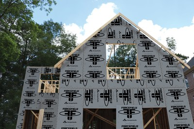 Georgia-Pacific recently introduced ForceField(TM), a new building product that not only shields exterior walls from harmful moisture and air, but also speeds up a home's construction. ForceField is an innovation that combines wood sheathing panels and a weather barrier for an all-in-one product.