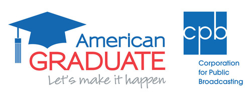 CPB and American Graduate logo.  (PRNewsFoto/WNET)