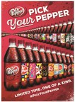 Dr Pepper is kicking off its Pick Your Pepper campaign by releasing hundreds of unique label designs that will be on 20-oz. bottles of Dr Pepper.