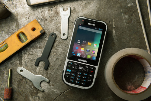 The Nautiz X4, with either Windows Embedded Handheld 6.5 or Android operating system, is made for mobile field workers who need cutting edge specs, extreme ruggedness and in-the-field reliability. (PRNewsFoto/Handheld Group) (PRNewsFoto/HANDHELD GROUP)