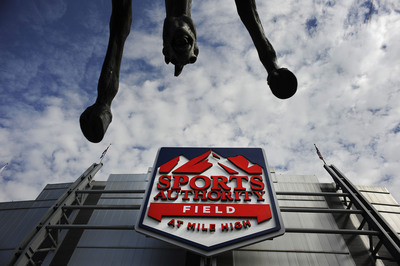 Sports Authority Field at Mile High unveils new stadium logo.  (PRNewsFoto/Sports Authority, Jamie Cotten)