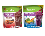 Jamba At-Home Smoothies Expands Fruit & Veggie Line with addition of new Red Fusion and Blue Fusion Blends. (PRNewsFoto/Inventure Foods, Inc. )