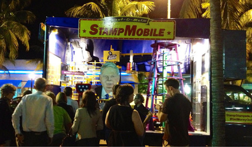 THE(UN)FAIR will welcome the Amend-o-Matic StampMobile, a money-stamping truck launching its national tour in New York City. (PRNewsFoto/THE(UN)FAIR) (PRNewsFoto/THE(UN)FAIR)
