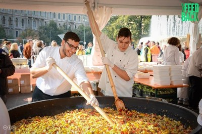 Feedback Global's Feeding 5000 held in Milan, Italy on October 10, 2015.  The event is designed to educate people on food waste and will provide 5,000 members of the public with a free feast, made entirely from fresh, top-quality ingredients that would have otherwise been wasted. Feedback's first ever #Feeding5000NYC event, with support from The Rockefeller Foundation, will take place in Union Square, NYC on May 10, 2016 from 11 a.m. - 4 p.m.