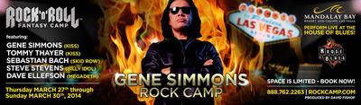 Gene Simmons Rock Camp. (PRNewsFoto/Rock 'n' Roll Fantasy Camp)