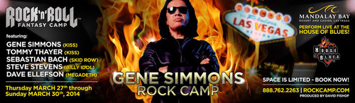 Gene Simmons Rock Camp. (PRNewsFoto/Rock 'n' Roll Fantasy Camp) (PRNewsFoto/ROCK 'N' ROLL ...