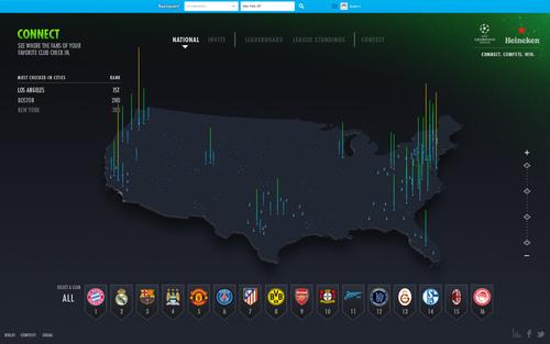 Heineken unveils Heineken Fan Footprint, an interactive digital heat map to connect UEFA Champions League fans ...