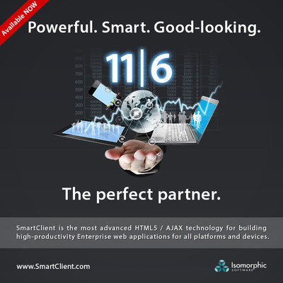 Isomorphic Software - provider of the most advanced, most complete HTML5 / AJAX technology for building Enterprise business applications for any device - today announce the release of SmartClient 11/ Smart GWT 6. 11|6 includes comprehensive Adaptive UI functionality, and numerous other state-of-the-art capabilities, cementing Isomorphic as the visionary in the web application technology space. The quality, maturity, and depth & breadth of functionality in the SmartClient platform make Isomorphic the standout choice for organizations seeking to building high-productivity enterprise web applications to support critical business processes.