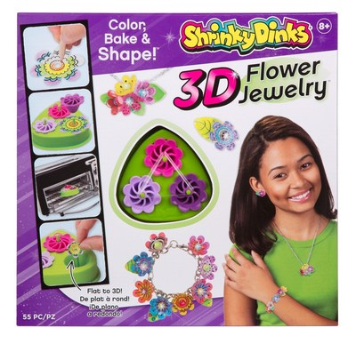 Shrinky Dinks 3D Flower Jewelry will be one of the more than 350 exciting new products introduced by Alex Brands at the 2016 North American International Toy Fair. New items span multiple categories of play and include line extensions for award-winning brands.