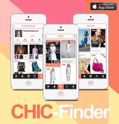 Screenshots of Chic-Finder Mobile App. (PRNewsFoto/Chic-Finder) (PRNewsFoto/CHIC-FINDER)