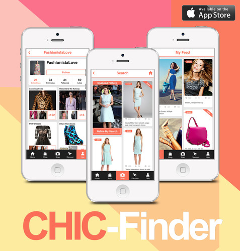 Screenshots of Chic-Finder Mobile App. (PRNewsFoto/Chic-Finder) (PRNewsFoto/CHIC-FINDER)