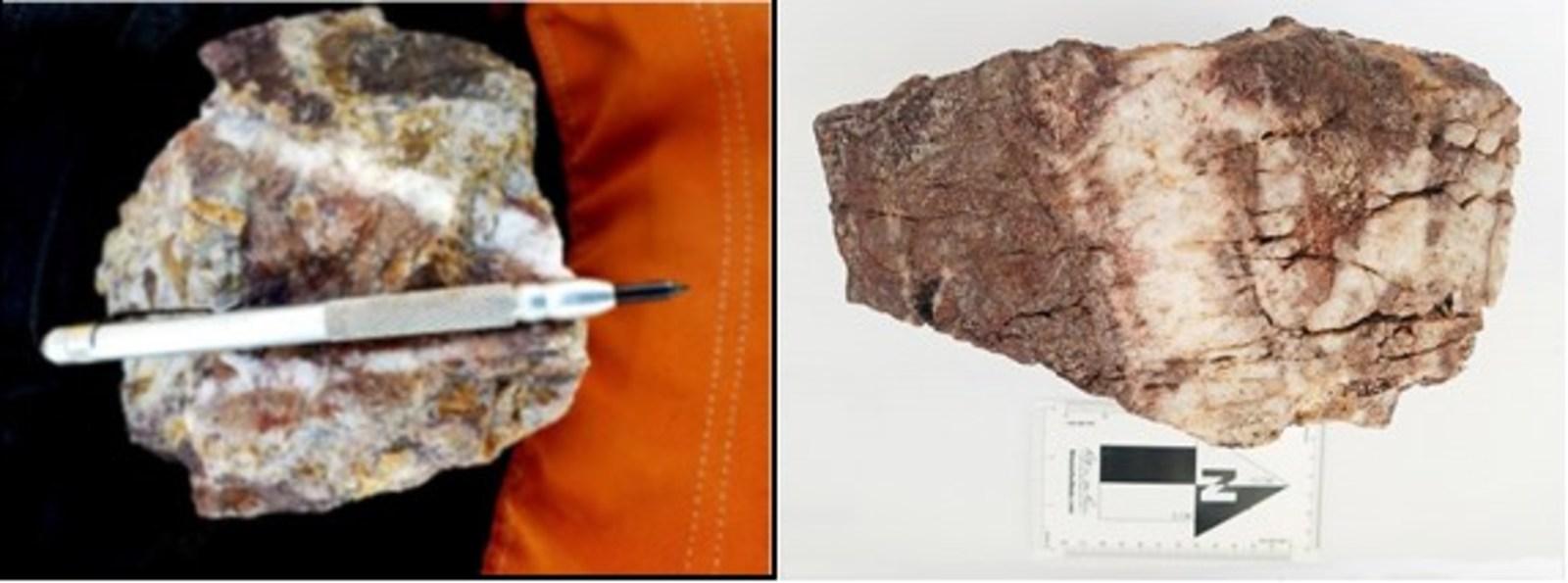 Figure 5 Nava Zone – Epithermal Stockwork Quartz Veinlets with Boxworks of Hematite