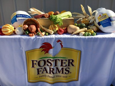 Foster Farms will donate 67,000 pounds of turkey to West Coast food banks this holiday season.
