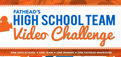 Fathead Brings It Again with 2nd Annual High School Team Video Challenge - Contest Encourages Creativity and Team Camaraderie.  (PRNewsFoto/Fathead LLC)