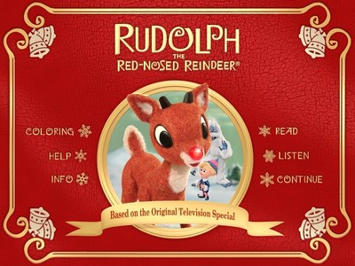 Rudolph the Red-Nosed Reindeer Storybook App Main Menu