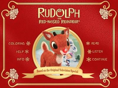 Rudolph the Red-Nosed Reindeer Storybook App Main Menu