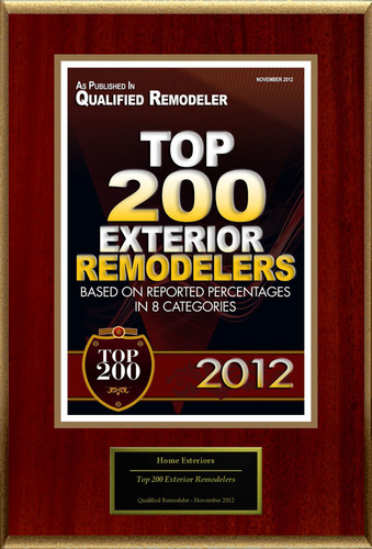 Home Exteriors Selected For 'Top 200 Exterior Remodelers'