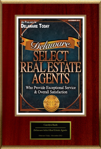 Carolyn Rash Selected For 'Delaware Select Real Estate Agents'