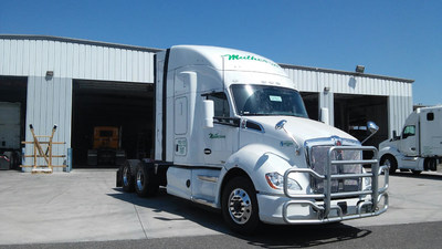 """Matheson Trucking, Inc. is expanding its """"Green Fleet"""" with the addition of 25 new Compressed Natural Gas (CNG) Kenworth T680 tractors to serve its routes for transporting U.S. Mail from Boise, Seattle and Salt Lake City by the Matheson Postal Services Division. Twelve Liquified Natural Gas (LNG) tractors also have been acquired for routes from Oakland, CA."""