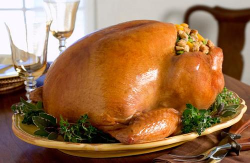 Butterball Turkey with 7-Grain Bread and Squash Stuffing.  (PRNewsFoto/Butterball, LLC)