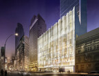 Nordstrom Manhattan Flagship Store - West 57th Street - Glass Waveforms Facade at Night