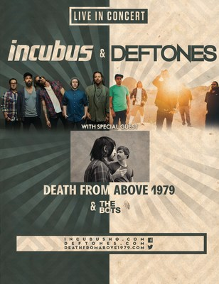 Incubus and Deftones Announces Summer Co-Headlining Tour