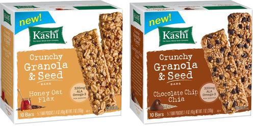 Kashi's new Crunchy Granola and Seed Bars nourish healthy appetites.  (PRNewsFoto/Kellogg Company)