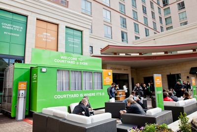 "Courtyard by Marriott is taking off on a year-long road trip with its newest program, ""Courtyard @,"" providing travelers at big event destinations with what they need for a successful trip. (PRNewsFoto/Courtyard by Marriott) (PRNewsFoto/COURTYARD BY MARRIOTT)"