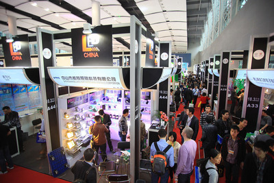Showfloor at LED CHINA 2013.   (PRNewsFoto/UBM Trust)