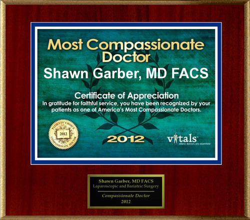 Patients Honor Dr. Shawn Garber for Compassion.  (PRNewsFoto/American Registry)