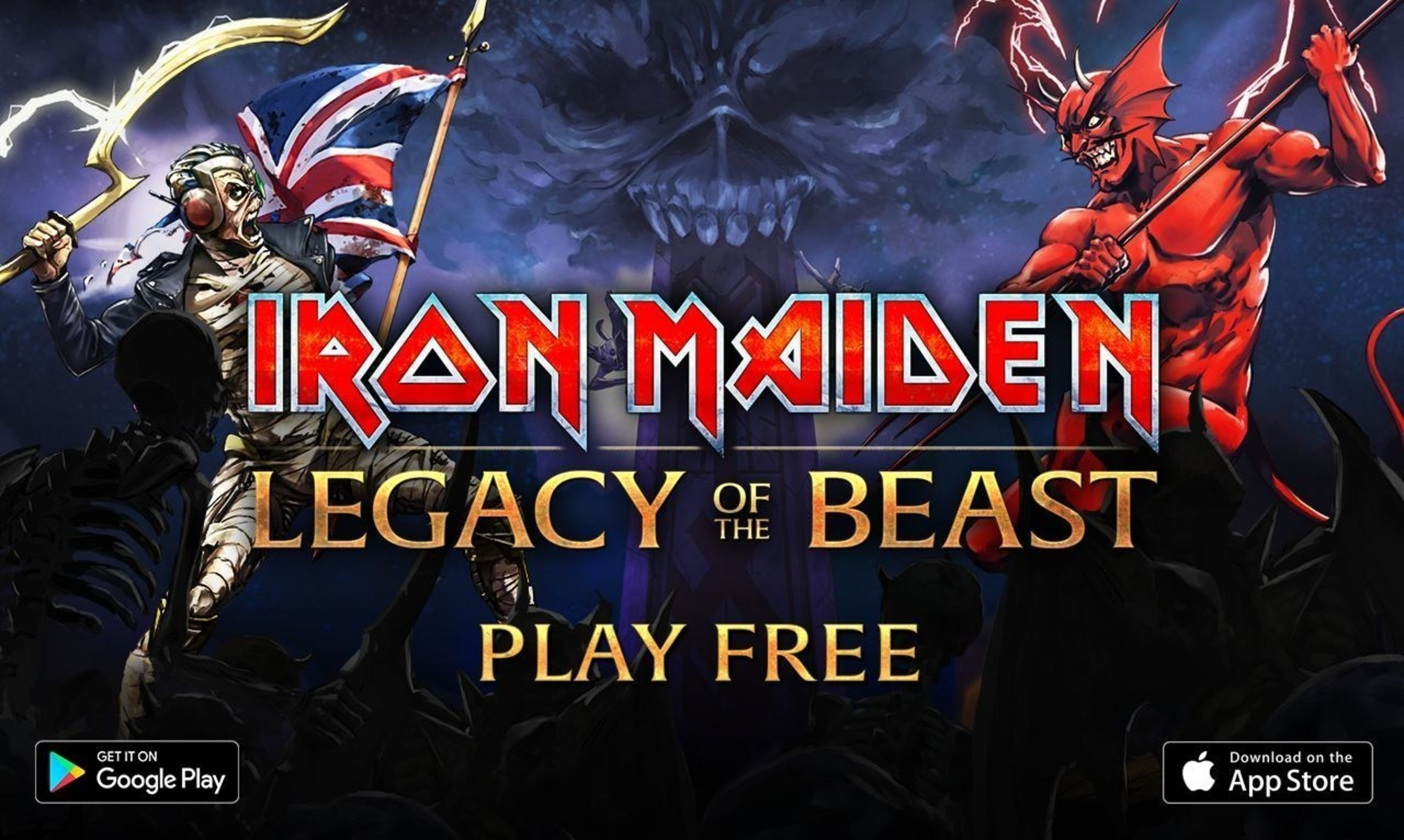 Iron Maiden Legacy of the Beast launches today on Android and IOS devices. (PRNewsFoto/Nodding Frog)