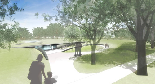 The Education Center at The Wall will be built adjacent to the Vietnam Veterans Memorial and in the shadow of the Lincoln Memorial in Washington, DC (Photo Courtesy VVMF).  (PRNewsFoto/Vietnam Veterans Memorial Fund)