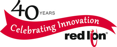 Red Lion Controls marked its 40th anniversary with a logo to celebrate the company's industry leadership in communication, monitoring and control for industrial automation and networking. Red Lion is a global company with headquarters in York, Pennsylvania.