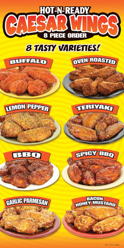 Don't Be a Chicken - Try Little Caesars® Pizza's Five, New Varieties of Caesar Wings®