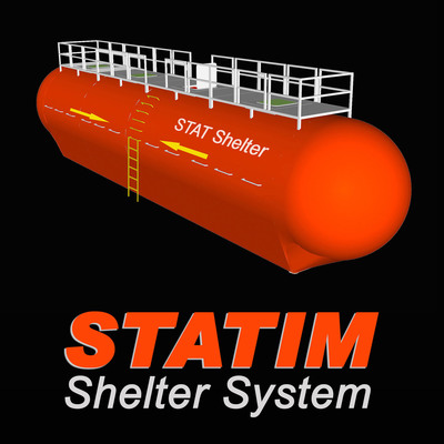 Computer rendering of a STATIM Shelter unit. The STATIM approach incorporates many requirements necessary for it to be both implementable in a large scale basis, and capable of delivering the necessary protection.