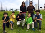 Sarah Auerswald and Yvonne Condes, co-founders of MomsLA, and their children enjoyed a Get Golf Ready lesson with PGA Professional Josh Alpert at The Lakes in El Segundo (Calif.). Photo courtesy of Sarah Auerswald and Yvonne Condes, MomsLA. (PRNewsFoto/PGA of America)